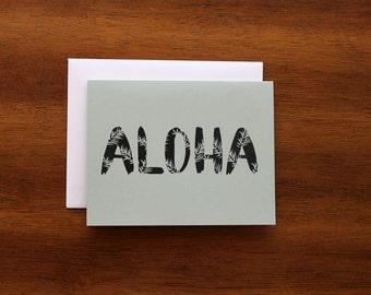 Aloha Greeting Card - A2 - Everyday card