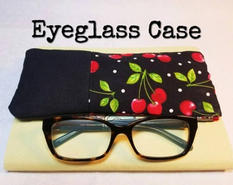 Eyeglass Case / Eyeglasses Case / Sunglasses Case / Glasses Case / Carrying Case / Pouch