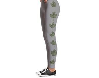 Canadian Military Cadpat Maple Leaf Leggings Grey