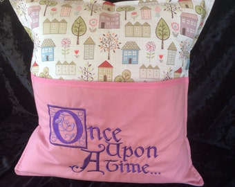Book cushion, Once upon a time, Reading cushion, story time