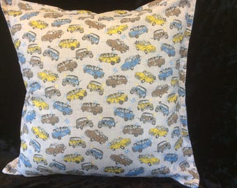 Cushion cover., Minis and Minors cushion, retro look