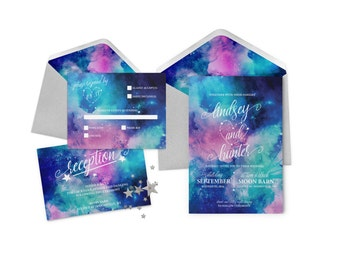 Love Written In the Stars Wedding Invitation Suite