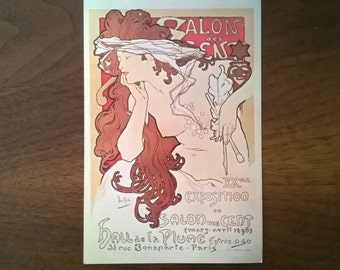 Vintage Stunning Art Deco Salon des Cent Giant Post Card