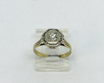 14kt & 18kt Antique Diamond Ring