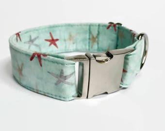Buckle/Snap Dog Collar Starfish // Dog Lover Gift // Dog Accessories