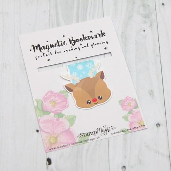 Reindeer Magnetic Bookmark - Planner - Reading - Kawaii - Cute