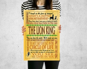 Lion King Poster, Lion King Print, Lion King Decal, Lion King Wall Decal, Lion King Nursery,