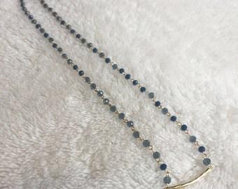Danty blue beaded necklace