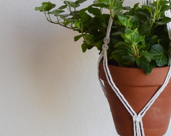 Macrame Plant Hanger For MED Sized Pots|Flower Pot Hanger|Modern/French Country/Boho Chic Plant Hanger|Patio/Front Porch Decor|Ready to Ship