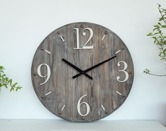 Rustic home decor Rustic Wall Clock 16 Inch Home Decor Wall Clocks  rustic wall decor