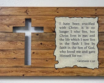 Old Rugged Cross and Galatians 2:20 - with lights