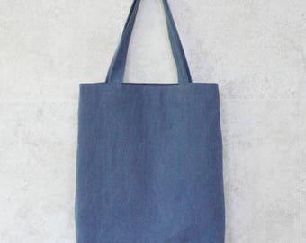 Blue Eco bag, canvas bag, book bag, blue tote bag, blue shoulder bag