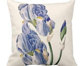 Iris Flower Throw Pillow Curtis Botanical