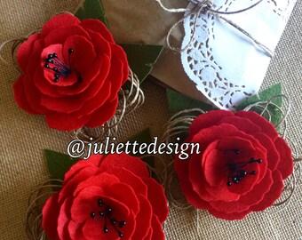 Felt Brooche, Felt Flower Brooche, Handmade Brooche, Felt Flowers Pin, Brooche, Accesories