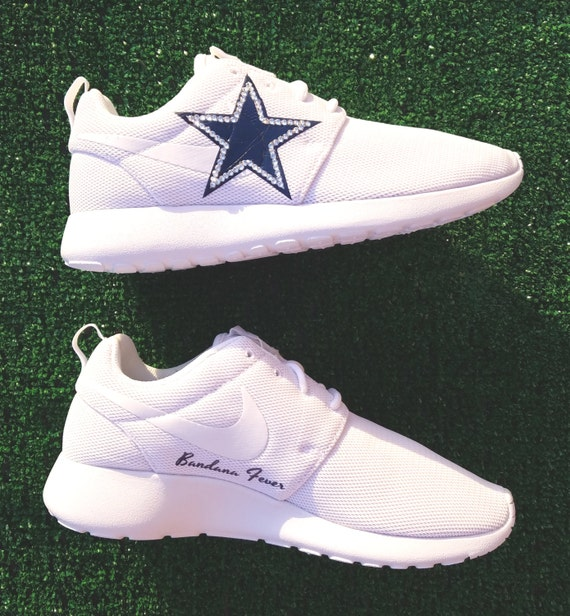 152ed1710349 free shipping Nike Bling Dallas Cowboys Roshe Run Women s by  BandanaFeverBling