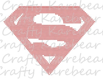 Rhinestone Superman Digital File Download
