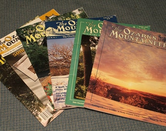 The Ozarks Mountaineer ~ Ozarkswide BiMonthly Periodical ~ Historical Photos & Stories ~ 50th Anniversary Issue Included~ Vintage Ozarks