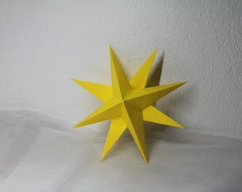 3D Star Wall Art / Home Decor / 3D Star paper ornaments / Christmas Decoration