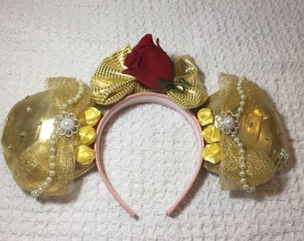 minnie headband beauty and the beast inspired