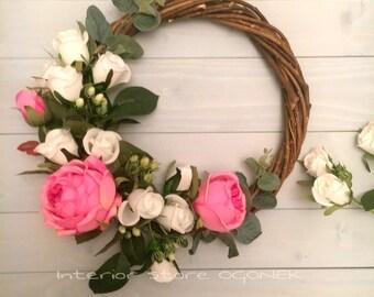 "Interior wreath ""Strawberry Marshmallow"""
