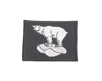 49th Infantry Division Patch/Badge - World War II - Embroidered White Polar Bear - E75