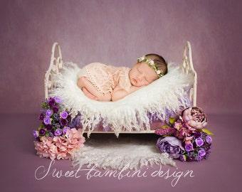 Newborn Photography Digital Prop/Backdrop Flower Bed - Agatha