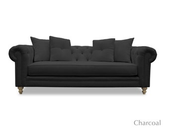 South Cone Home Benedict Chesterfield Vintage Sofa