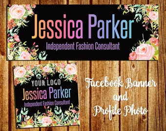 Facebook Cover Banner And Profile Picture - Instagram Cover - FB Group Cover Photo - Watercolor Flower - Pink Floral - Personalized