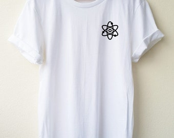 Atom shirt Supernatural embroidery T-shirt  Minimal Tee unisex t-shirt size S to XL