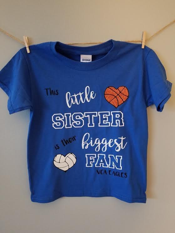 Little Sister Little Brother Biggest Fan Sports Shirt Team