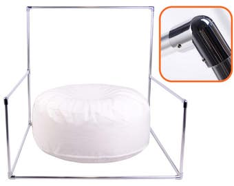 KIT: Metallic Backdrop Stand for Newborn Photography AND Posing Bean Bag 41in. - Ready To Ship