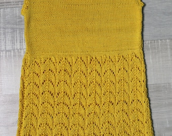 A yellow 100% cotton dress, size - 36 months