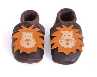 Kids slippers, baby shoes, baby shoes, children's leather shoes, leather shoes, lion