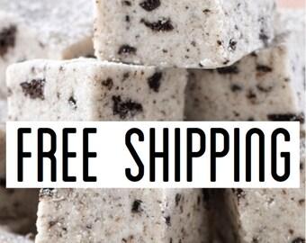Free Shipping, Cookies and Cream Fudge, Creamy Fudge