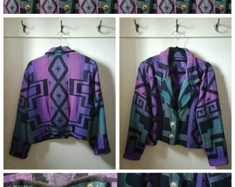 Aztec Country Native American Bolero Jacket - Women's Medium