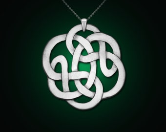 Infinity of vesica piscis, infinity necklace, infinity knot, celtic jewelry, celtic knot necklace, Vesica piscis, magic jewelry