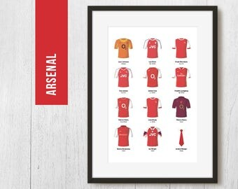 PERSONALISED, Arsenal Print, Football Poster, Football Gift, FREE UK Delivery