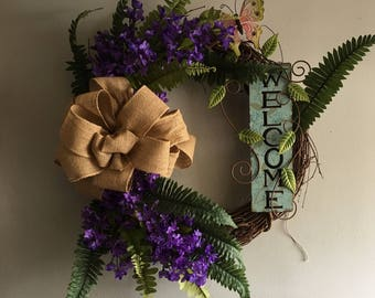 fern welcome wreath