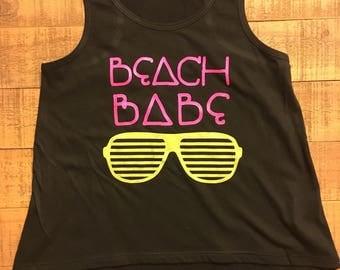 Beach babe tank top