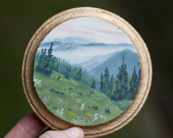 Oil Landscape Painting of Wyoming Field - Landscape Painting - Oil Painting - Painting - Mini Art