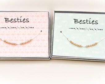 Besties Morse Code Necklace (set of 2)
