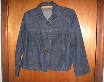 ship free a,n.a. large blue jean jacket