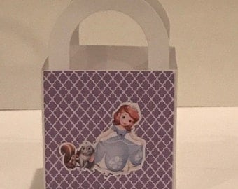Sofia the first mini favor box