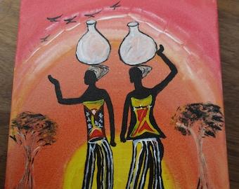 Women returning from Well by Shukuru
