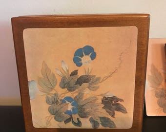 Vintage Flower Coaster Set
