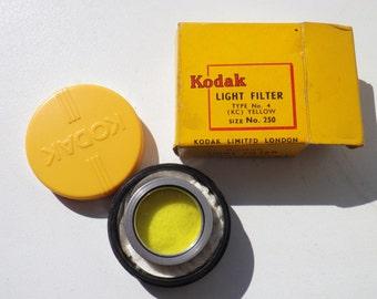 "vintage  KODAK ""LIGHT FILTER"" Type No 4 (kc Yellow )"