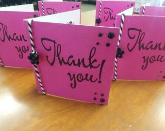 3D Blank Diva Inspired Thank You Cards