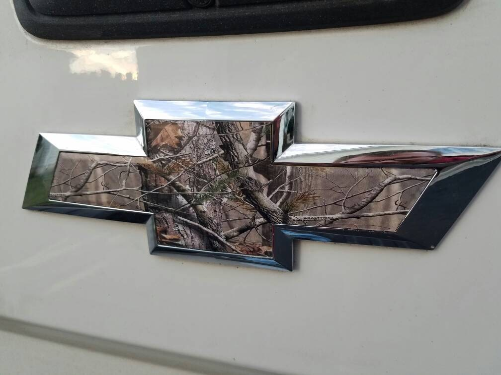 Real Tree Camouflage Vinyl Wrap Sheets Camo Sticker Chevy