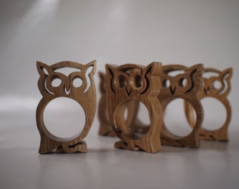 Napkin rings - owls set of 4, 6, 12, or 24
