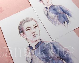 """Yuuri Katsuki - A5 & 8x12"""" Giclée Print"""
